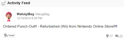 WaluigiBag Miiverse ordered Punch-Out!! Wii from Nintendo Online Store