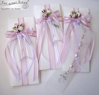 bomboniere segnalibri rosa angelo