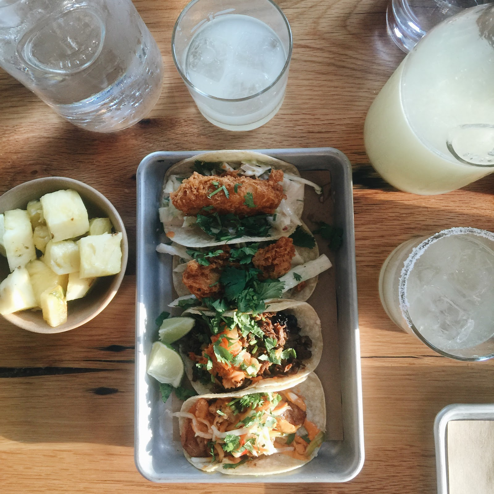 Street tacos at Bartaco in 12 South, Nashville