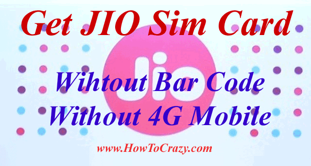 JIO Sim Without Bar Code / Without 4G Mobile