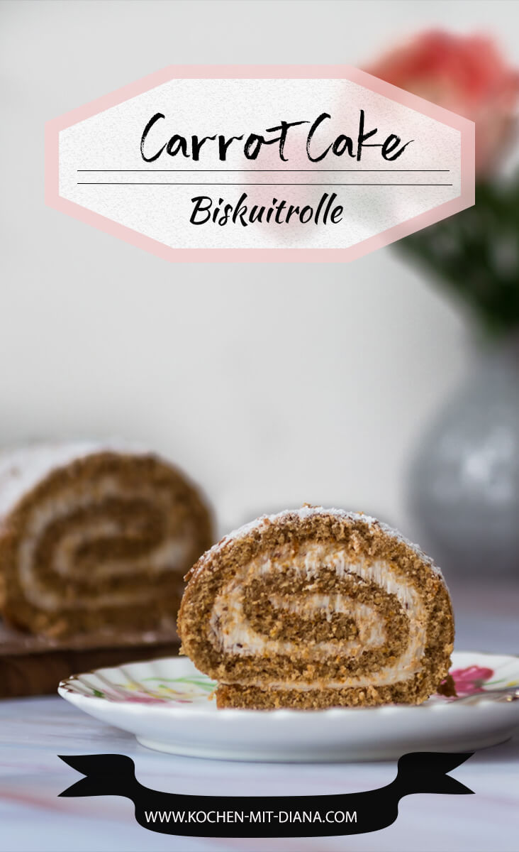 Carrot-Cake Biskuitrolle