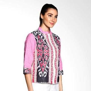 Contoh Model Baju Batik Kerja Guru Kombinasi Terbaru