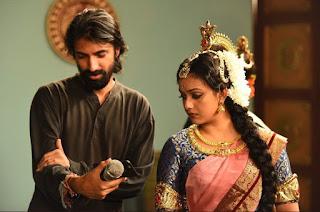Keerthy Suresh with Director of Mahanati Nag Ashwin in Mahanati Working Stills