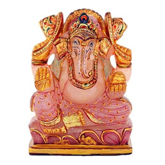 Velvetcase- Rose Quatrz Ganesha Idol - Price Rs 4979 on Ganesha Chaturthi