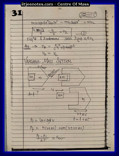Center Of Mass Notes6