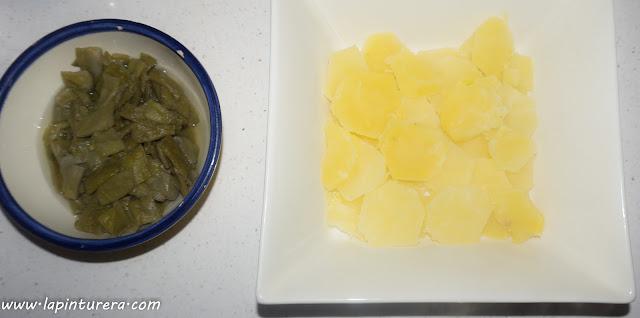 patata y judias cocidas
