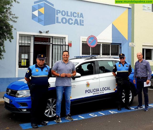 La Policía Local de Breña Alta cuenta desde hoy con un nuevo vehículo todoterreno para patrullar