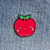 Kawaii Apple Lapel Pin