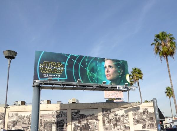 Leia Star Wars Force Awakens billboard