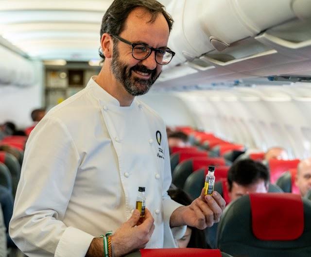 Iberia realiza la primera cata a bordo de Aceites de Oliva