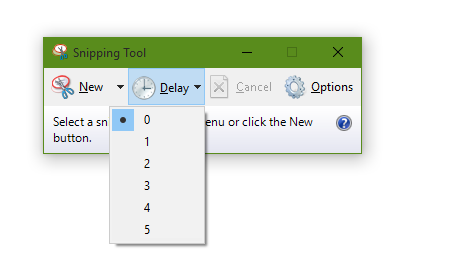 Snipping Tool Delay in Windows 10