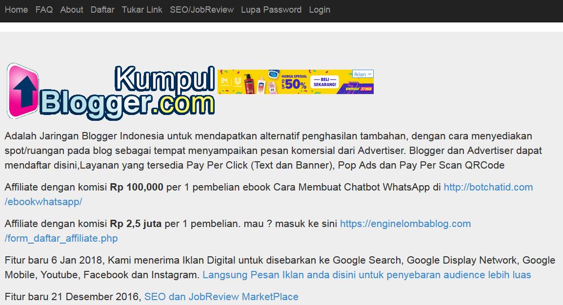Bukti Pembayaran Dari Kumpulblogger.com dan Bukan SCAM