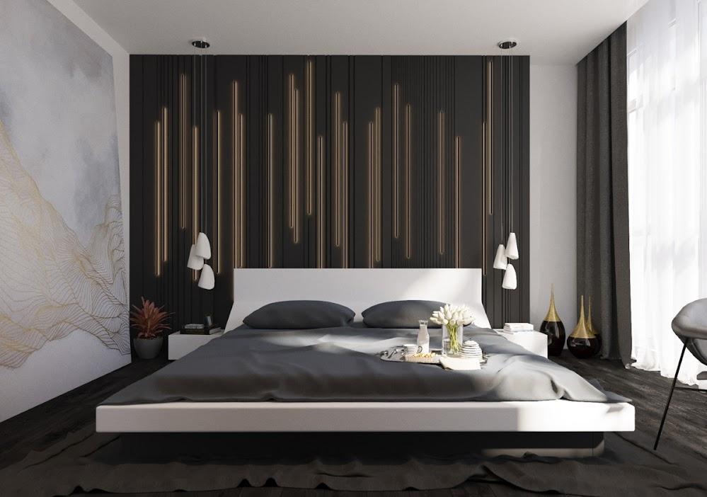 hanging-slats-futon-bed-modern-bedroom-accent-wall-decor-ideas