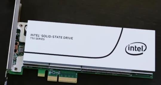 القرص Intel 750 Series PCIe NVMe SSD