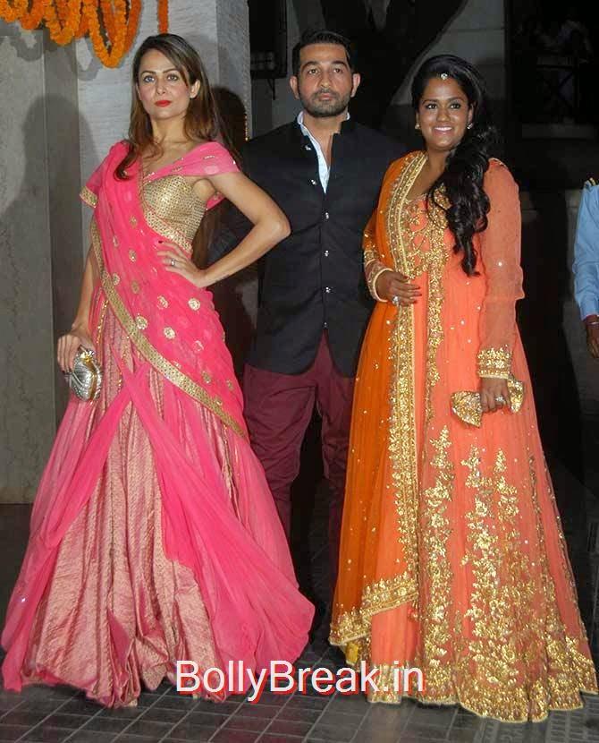 Amrita Arora, Shakeel Ladak and Arpita Khan Sharma, Soha Ali Khan Kunal Khemu wedding receptionPhoto gallery album