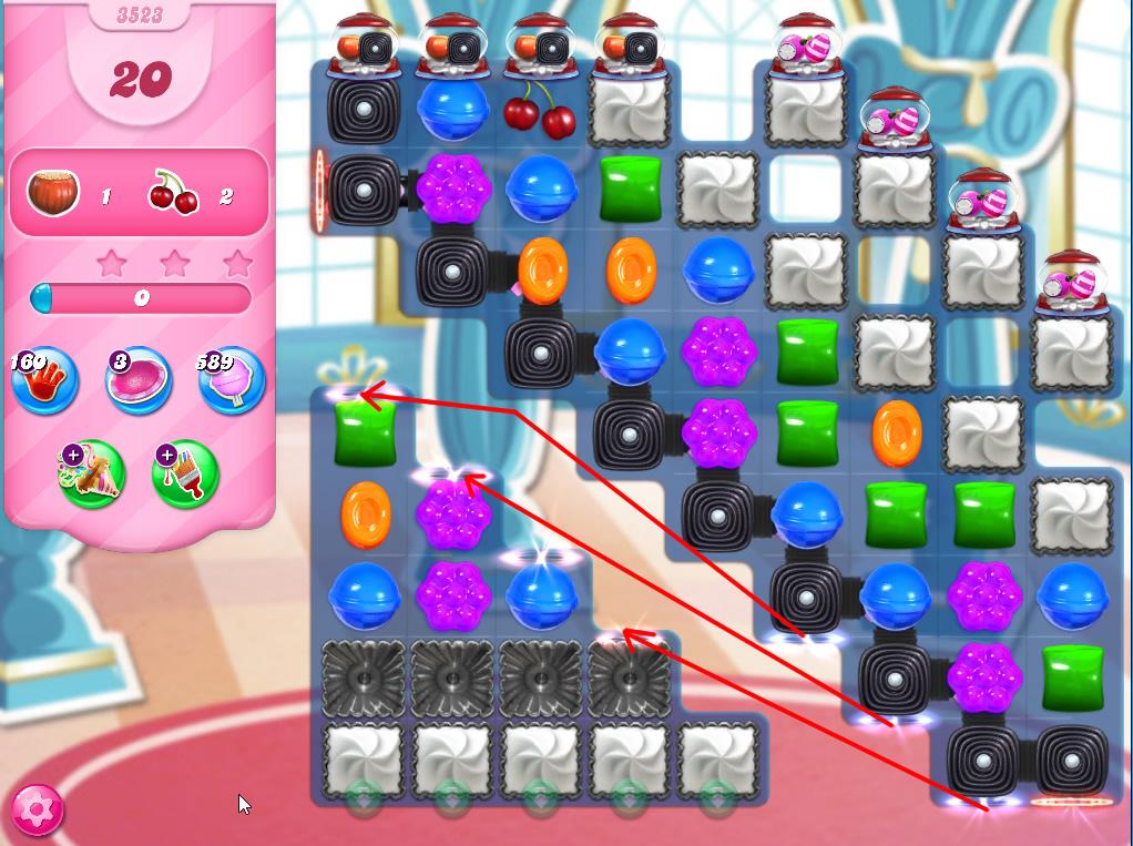 Candy Crush Saga level 3523