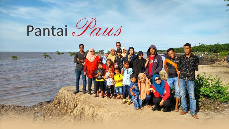 Piknik Bareng Keluarga di Pantai Paus Rangsang Pesisir