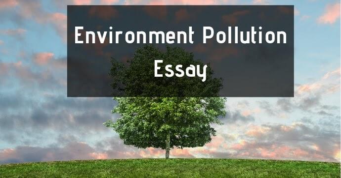 Environment essay for kids