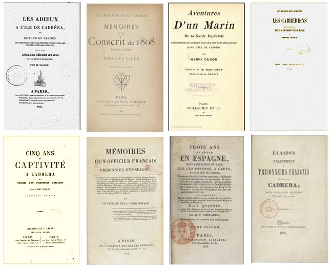 Portadas libros Francia prisioneros Cabrera