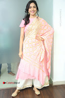 Actress Ritu Varma Pos in Beautiful Pink Anarkali Dress at at Keshava Movie Interview .COM 0049.JPG