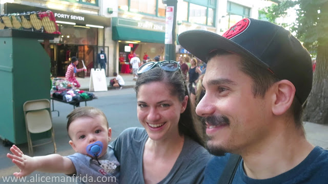 Baby's First Baseball Game, family, Boston, Red Sox game, Fenway Park