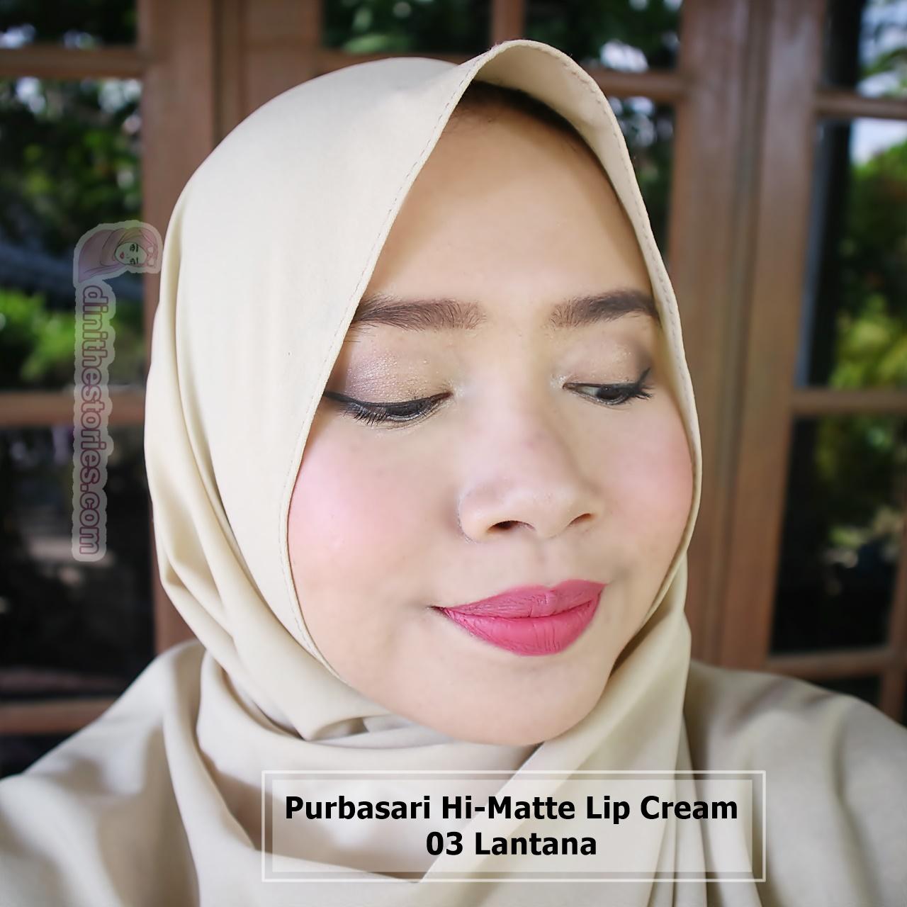 Purbasari Hi Matte Lip Cream Review And Swatch All Shades Dini The Lipstick 03 Lantana