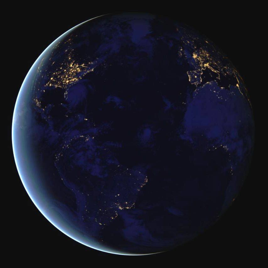 nasa night view of earth - photo #9