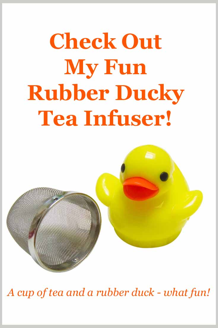 Fun rubber ducky tea infuser