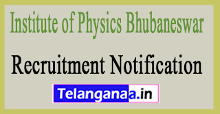 Institute of Physics Bhubaneswar IOPB Recruitment Notification 2017