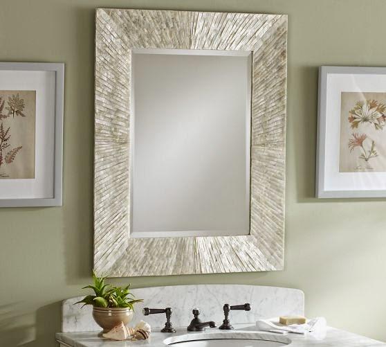 Pottery barn capriz mirror