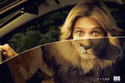 publicidad mujer con cara de  leon