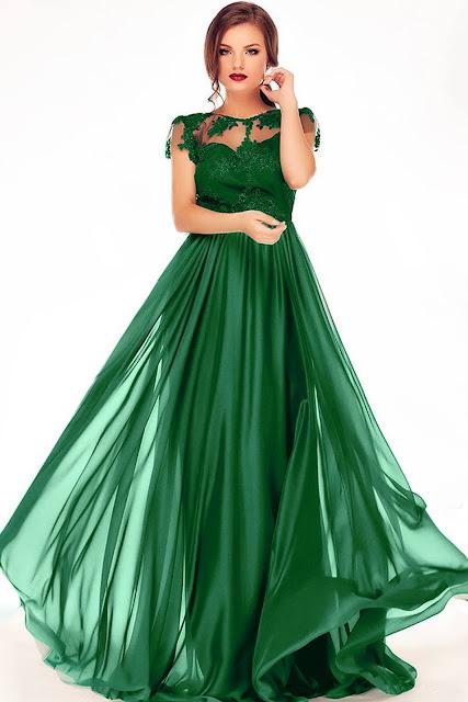 rochie erin verde