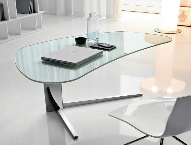 best buy modern glass home office desks UK for sale online