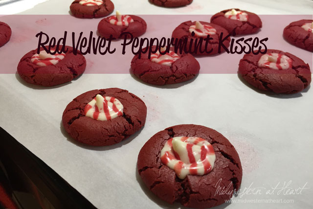Red Velvet Peppermint Kisses