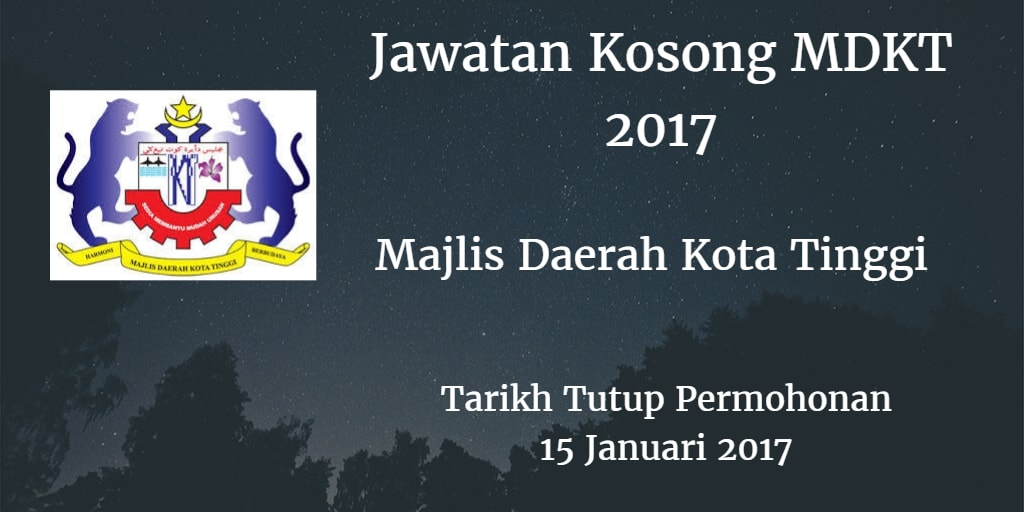 Jawatan Kosong MDKT 15 Januari 2017