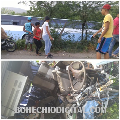 5 personas heridas chófer grave ruta Tenguerengue accidente San Juan-Azua
