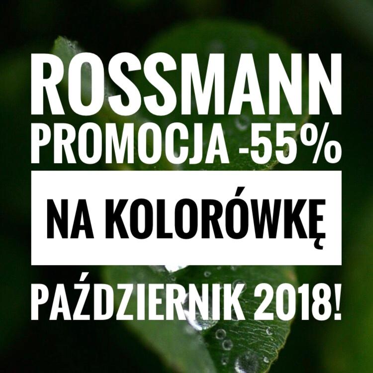 Promocja w Rossmannie -55% na kosmetyki do makijażu pażdziernik 2018