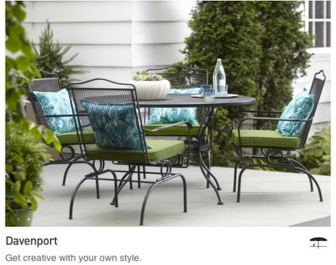 outdoor table and chairs lowes