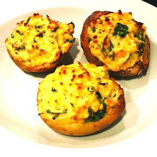 Soufflé Baked Potatoes with Cheddar