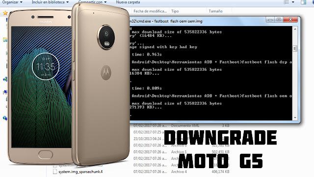 Downgrade Moto G5