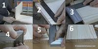 Marcar las dimensiones de los dientes de los lazos rectos. http://www.enredandonogaraxe.com