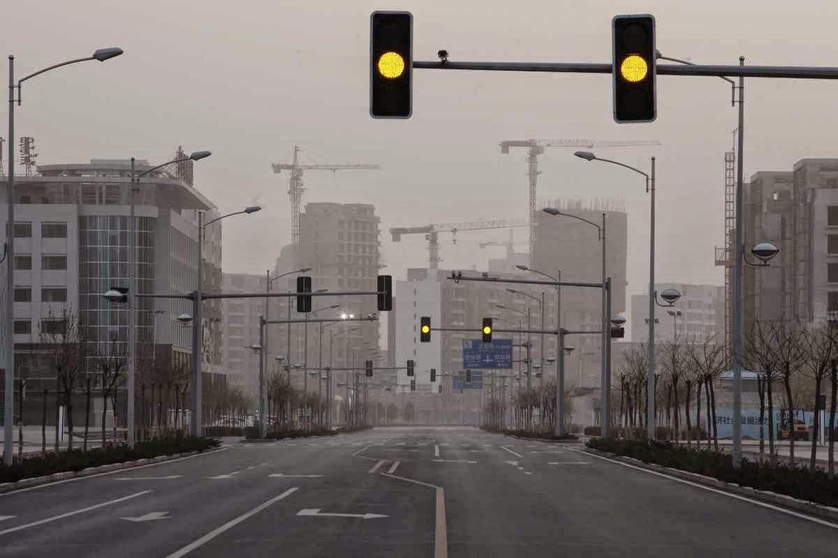 Kangbashi: não e filme fiction mas é mais uma cidade fantasma da China