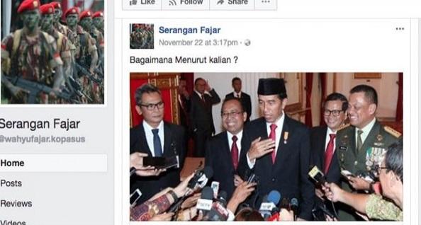 Kebangetan! Buat Profil Pakai Nama dan Foto Kopassus, Akun Ini Sebar Hoax Serang Jokowi