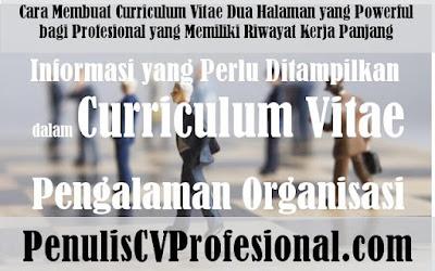 Jasa Pembuatan Curriculum Vitae