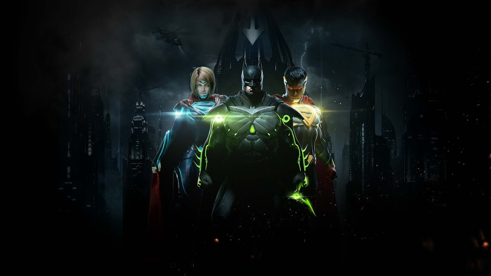 injustice 2 batman, supergirl and superman