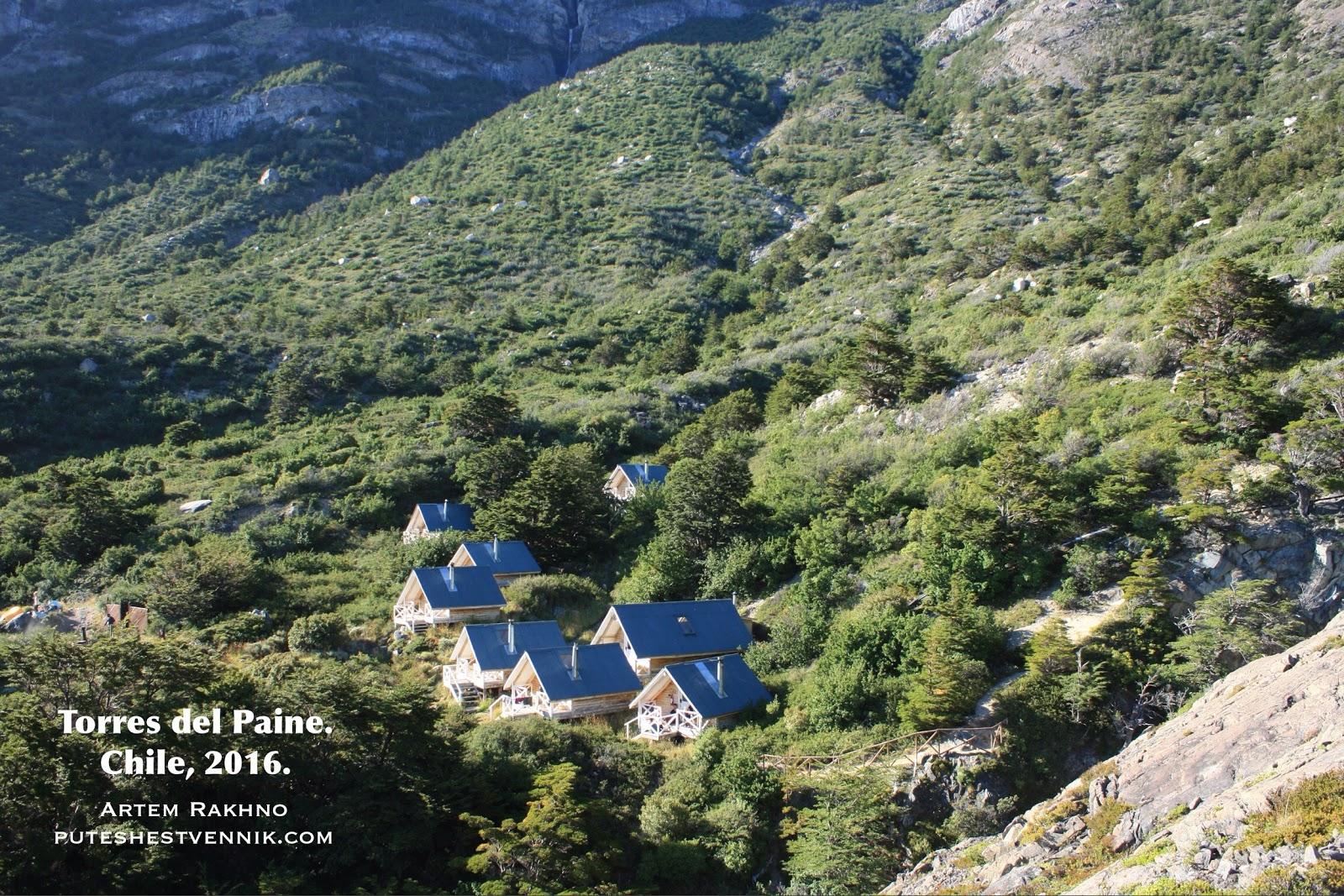 Деревянные дома в Торрес-дель-Пайне