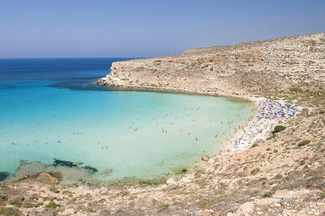 Spiaggia dei Conigli, Lampedusa, Sicily