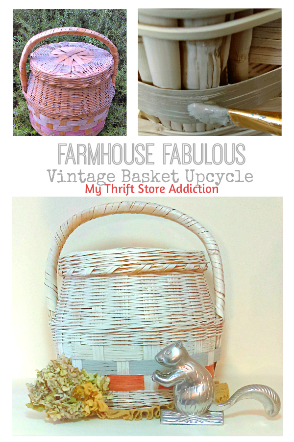 Upcycled vintage farmhouse basket
