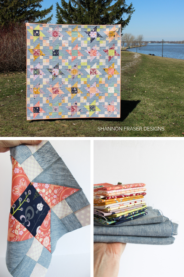 Fabric bundle + block + quilt in the wild | Fall Irish Vortex Quilt | Shannon Fraser Designs