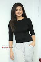 Telugu Actress Mishti Chakraborty Latest Pos in Black Top at Smile Pictures Production No 1 Movie Opening  0228.JPG